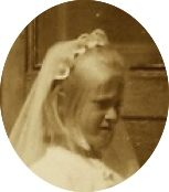 True blonde first communion little sister