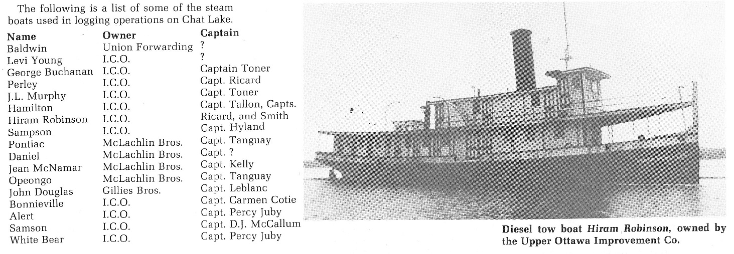 ICO Boat (Hiram Robinson and list)