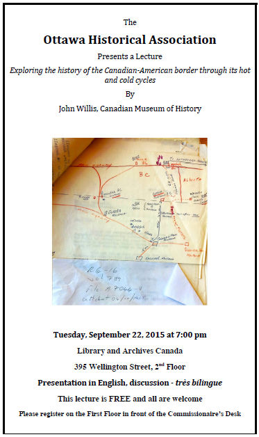 Ottawa Historical Association Lecture by John Willis