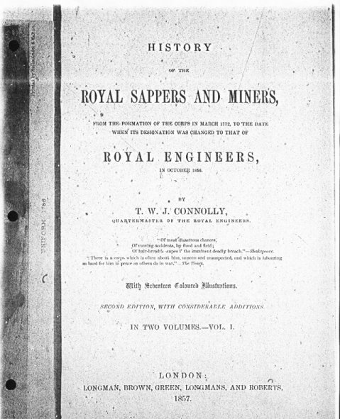 Book about the Royal Sappers and Miners