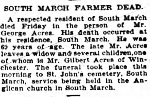 Obituary for Mr. George ACRES
