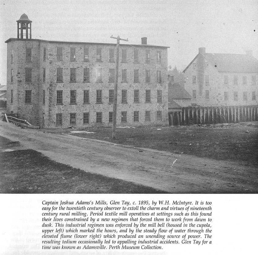 Adams Textile Mill in Perth, c. 1895