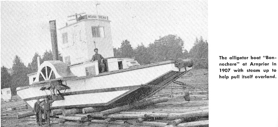 Alligator Boat at Arnprior, Ontario, Canada, in 1907