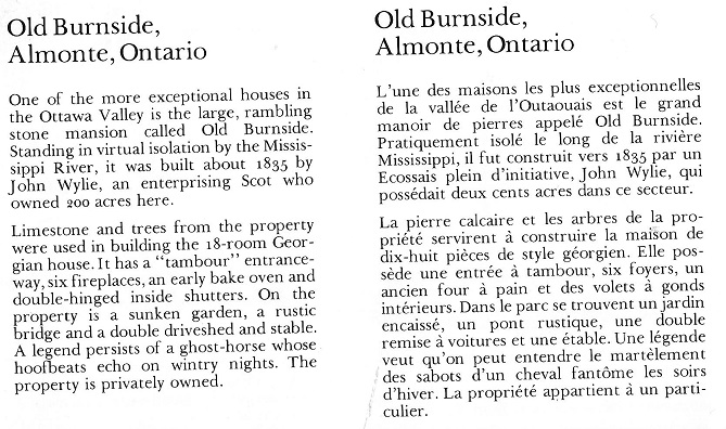 Almonte Old Burnside Text