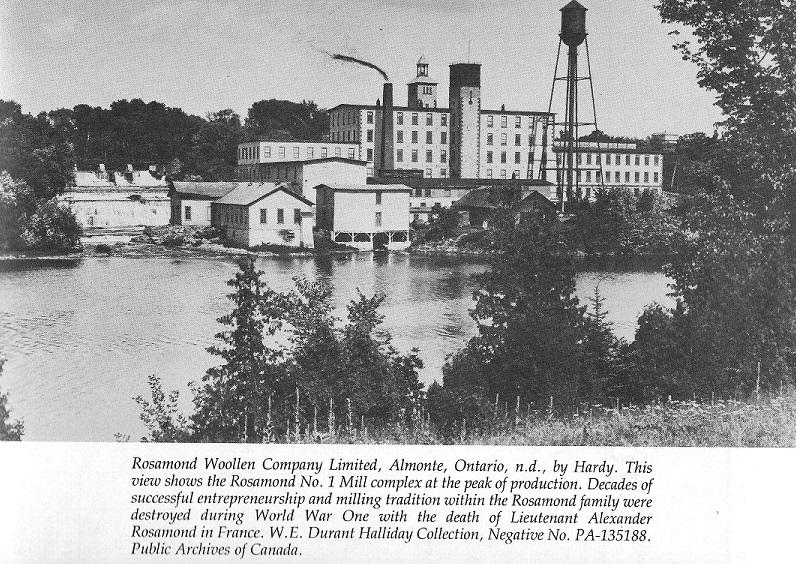 Rosamond Woolen Mill in Almonte, c. 1860