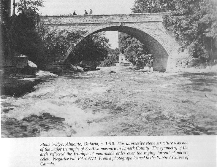 Stone bridge in Almonte, Ontario, Canada, built by Scottish masons