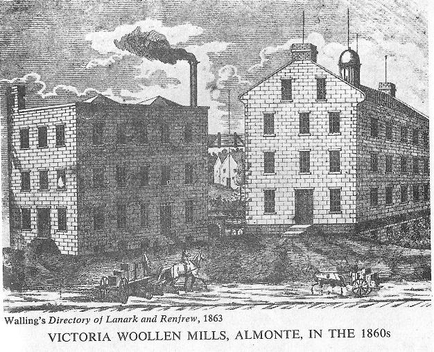 Victoria Woolen Mill in Almonte, c. 1860