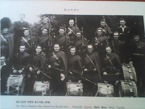 The band from Keady, County Armagh, Ireland, in 1946