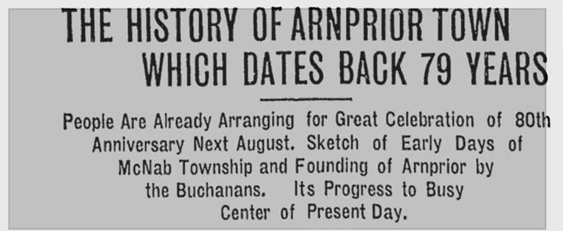 Arnprior, Ontario, Canada - History and Genealogy