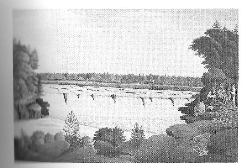 Painting by Thomas Davies - believed to be the Chaudiere Falls on the Ottawa River