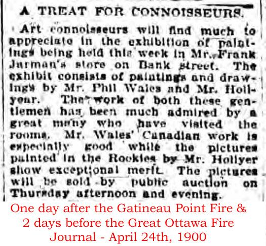 Art Show in Ottawa, Ontario, Canada in the year 1900