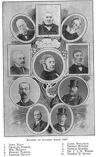 Ten early Mayors of Aylmer, Quebec