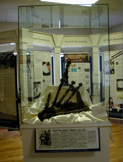 Bagpipes belonging to John Brown and used at Culloden