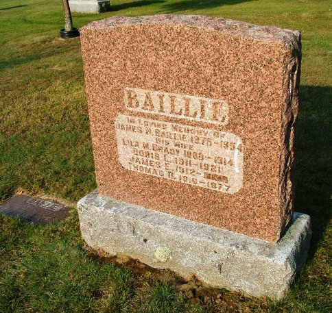 James Baillie Tomb Stone, Aylmer, Quebec, Canada