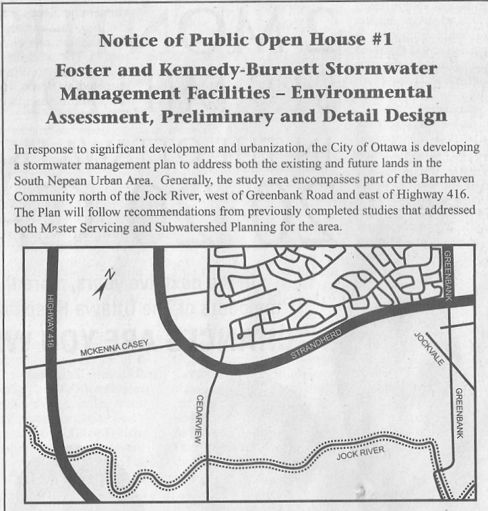 Barrhaven - Jockvale Storm Water Project