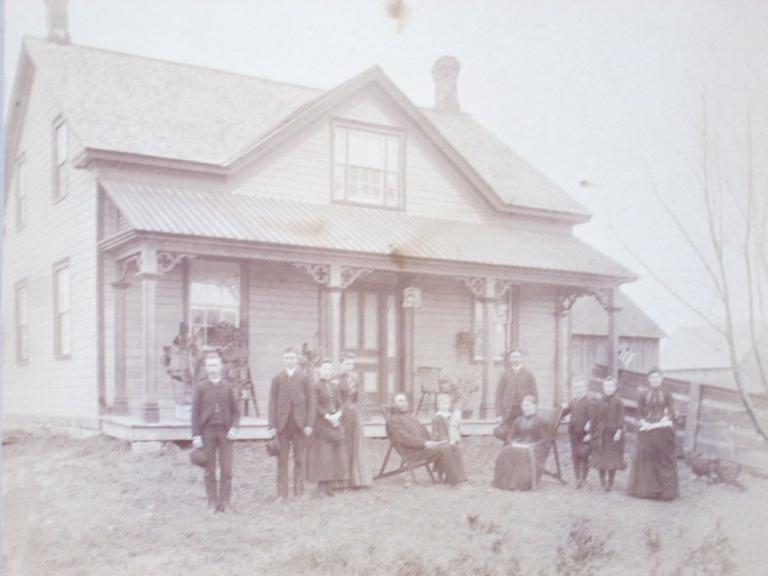 Likely photo of the Benjamin Barton house, c. 1860, Goulbourn Township