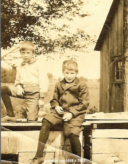 Harold and E. Stuart Beaman, early 1900's