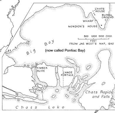 Pontiac Bay / Big Bay, Ottawa River, 1845
