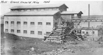 Mill at Black Donald Mine, Ontario, Canada