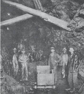 Miners at Black Donald Mine
