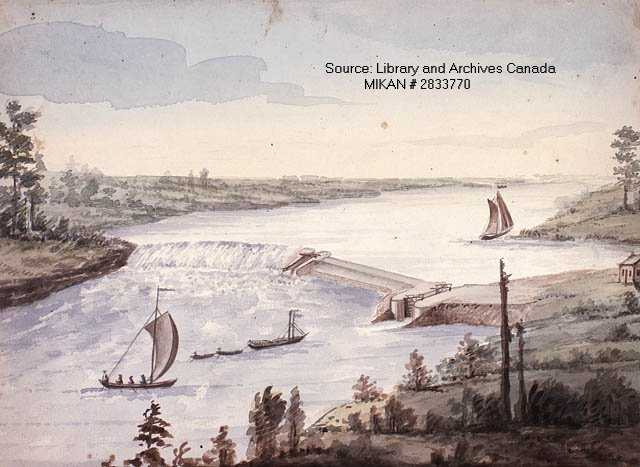 Black Rapids Painting, Rideau Canal System, Ottawa, Canada