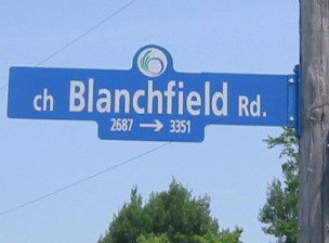 Sign for Blanchfield Road