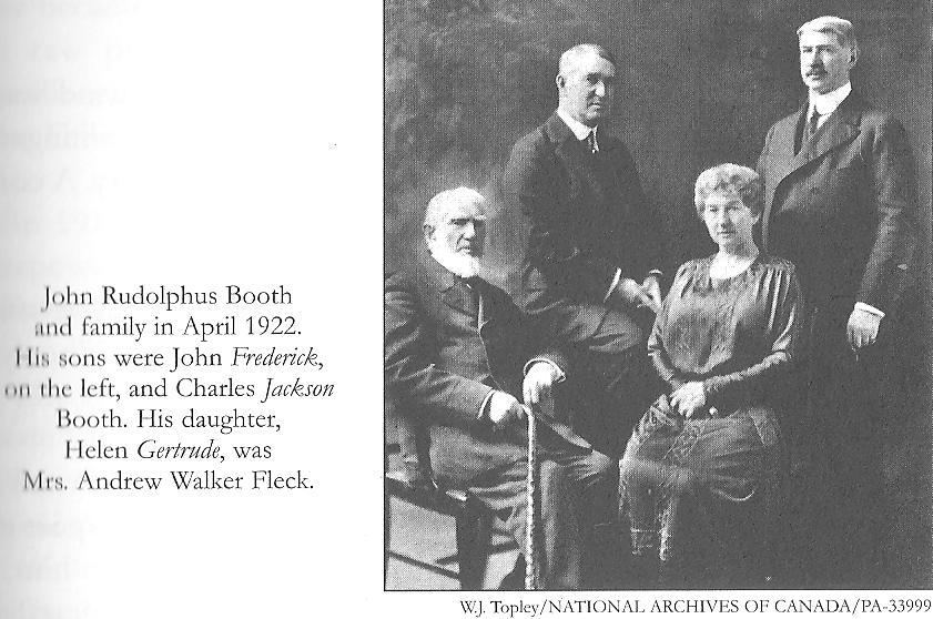 John Rudolphus Booth - J. R. Booth, Ottawa Lumber Magnate