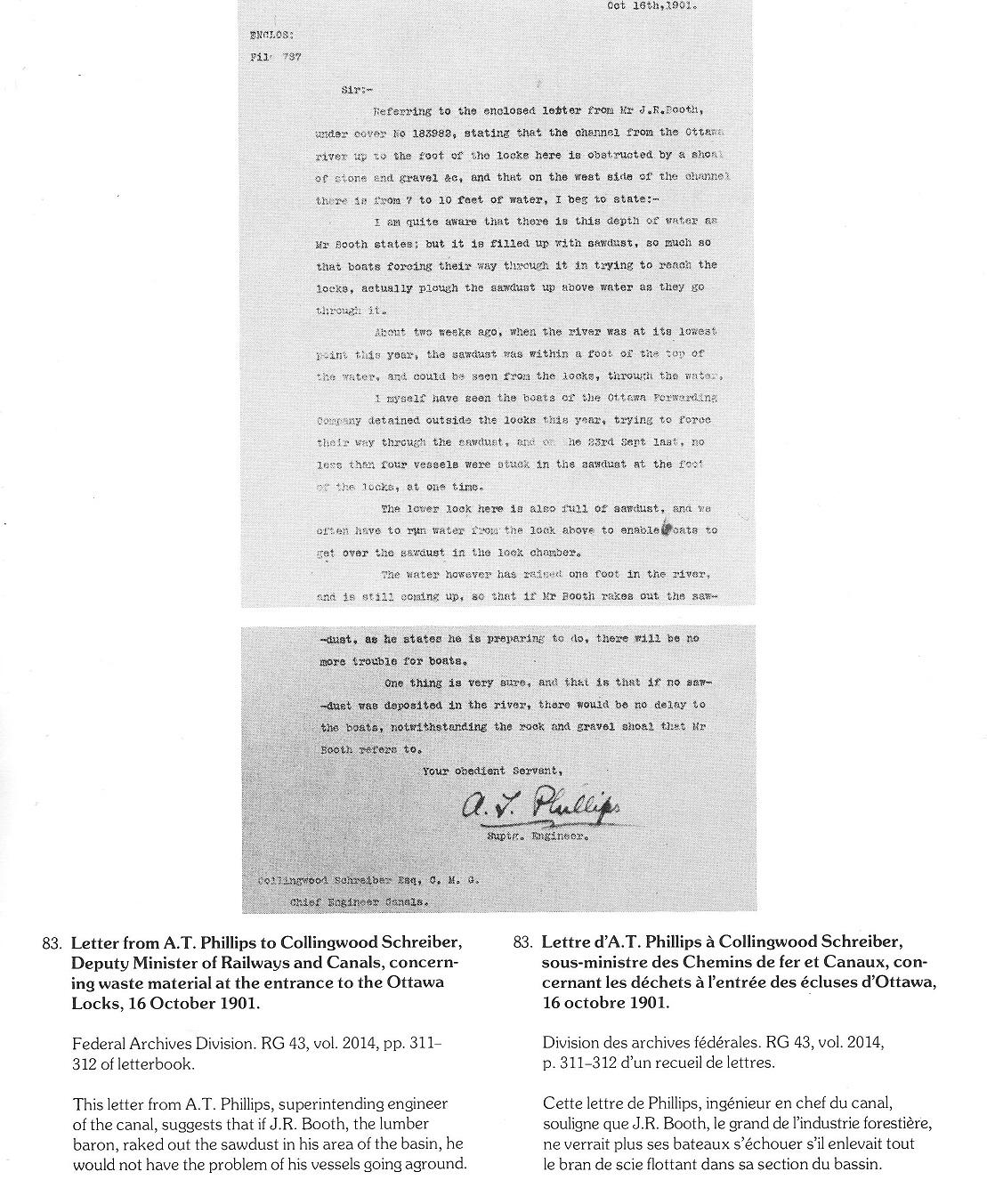 John Rudolphus Booth letter