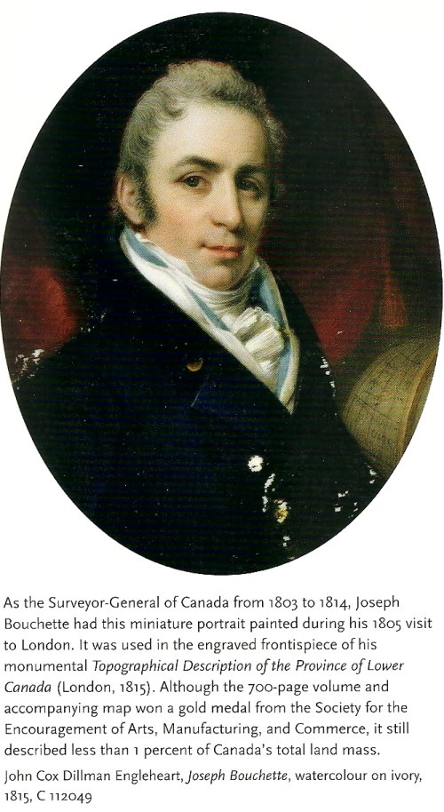 Joseph Bouchette, Surveyor General of Canada, 1803-1814