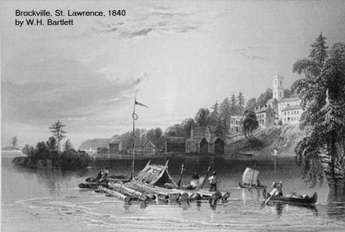 Brockville, Ontario, Canada in 1840 by W.H. Bartlett