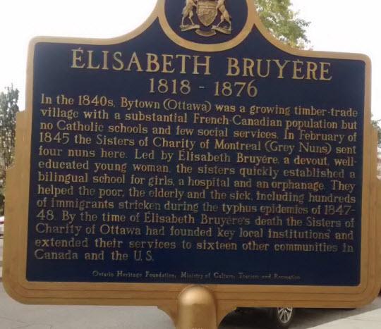 Sister Elizabeth Bruyere,Ottawa (1)
