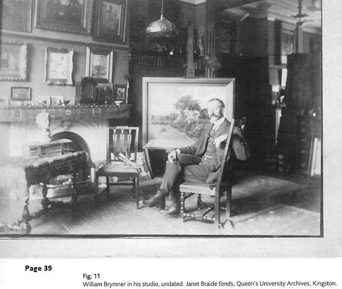 William Brymner, Canadian Artist, in his studio