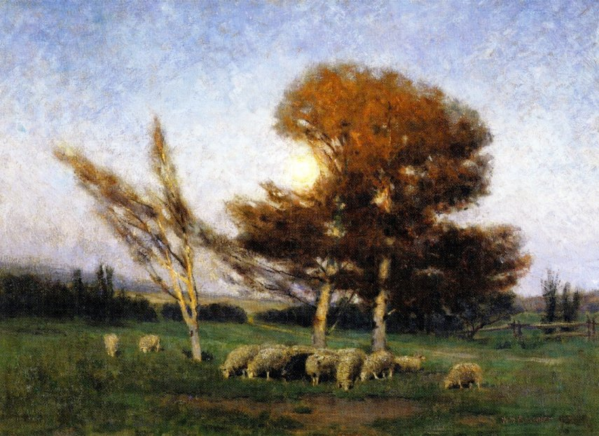 Early Morning in September, painting by William Brymner, Canadian Artist
