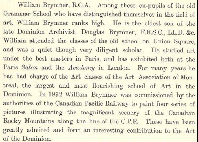 Brief Biography of William Brymner, Canadian Artist
