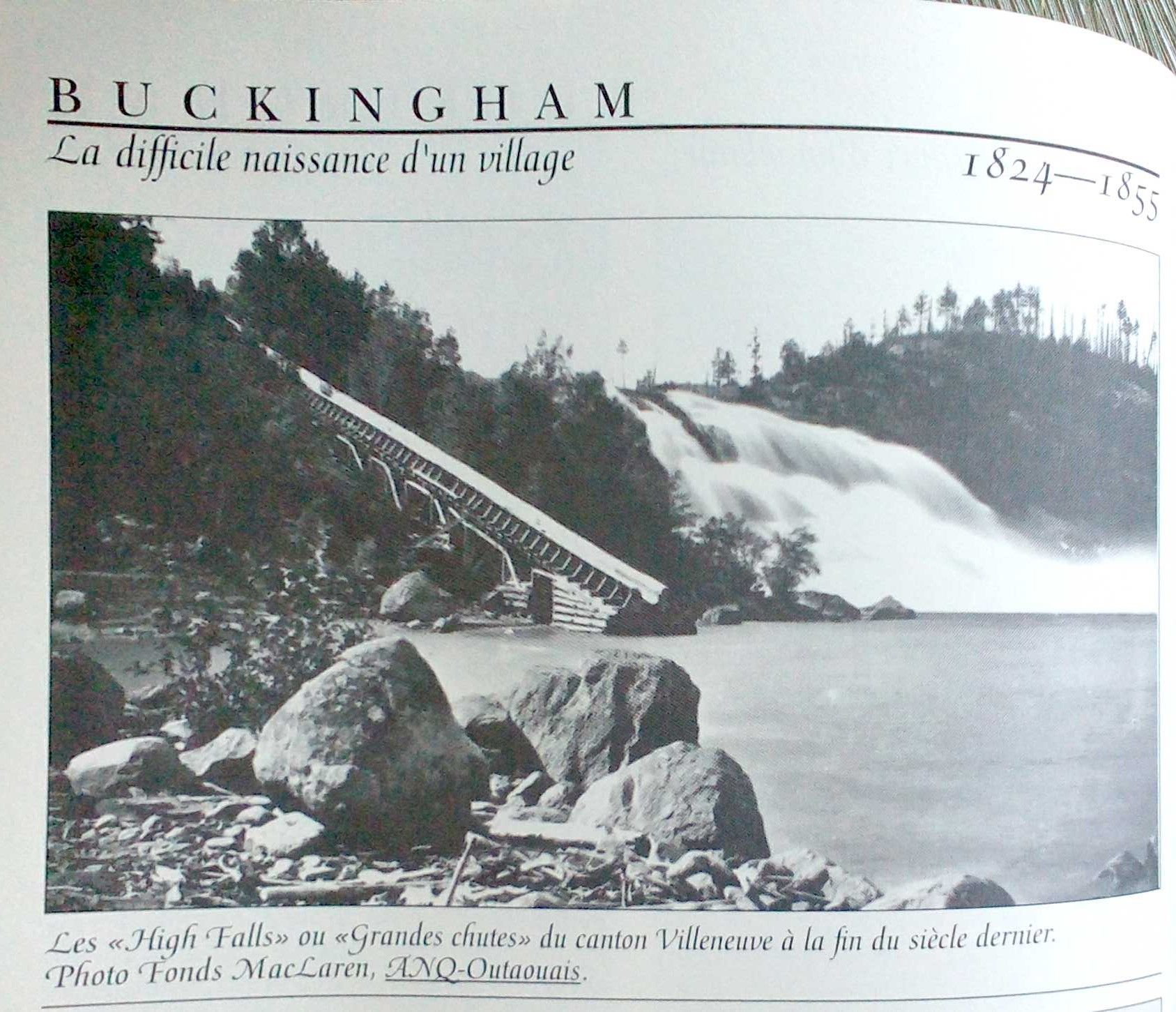 High Falls on the Lievre River, north of Buckingham