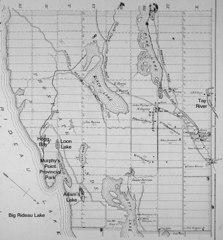 Map of North Burgess Township, Ontario, Canada, in 1879