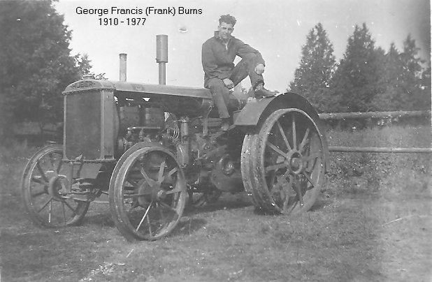 Frank Burns on Tractor in Ontario