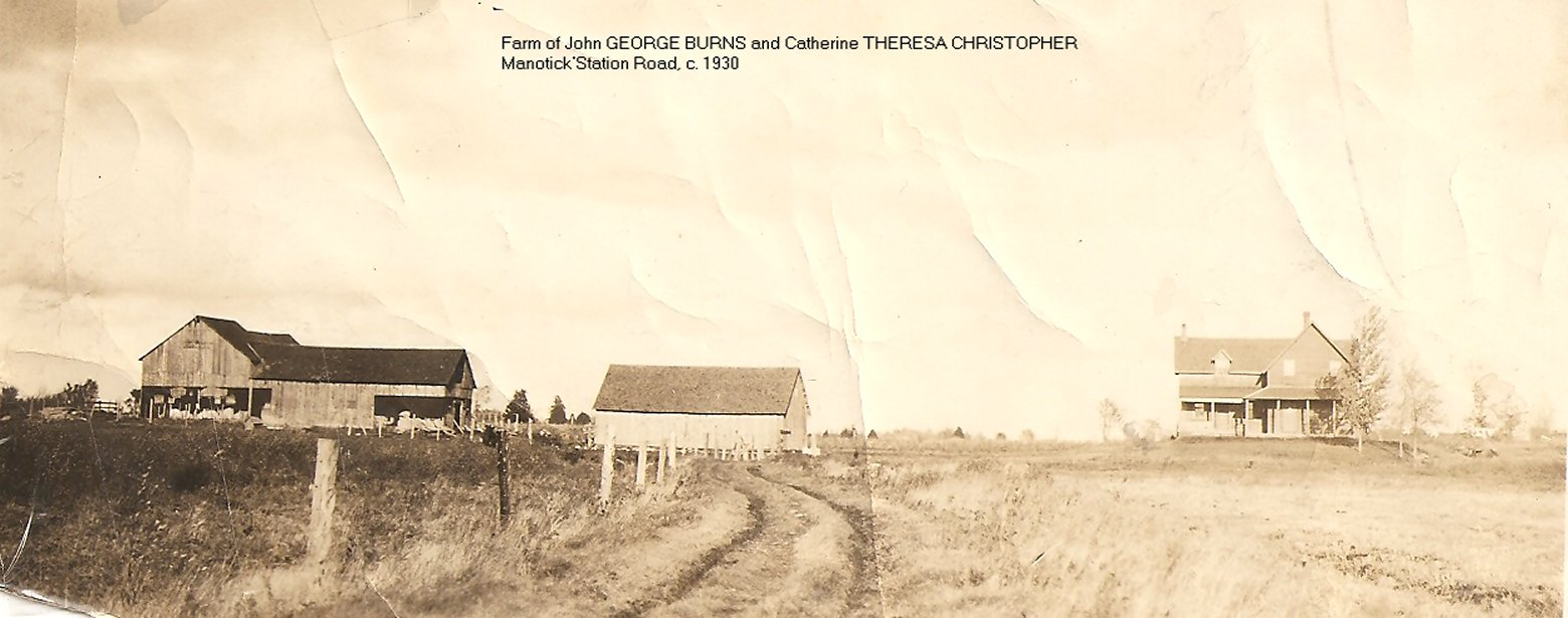 Farm House of John George Burns and Theresa Christopher, about 1930