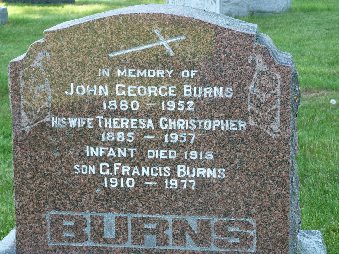 Grave Marker at Enniskerry Church, Ontario, Canada