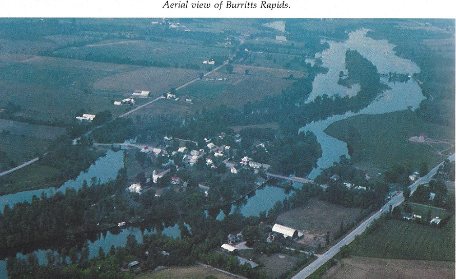 Aerial View of Burritts Rapids
