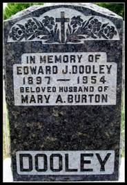 Grave Stone for Edward Dooley and Mary Burton