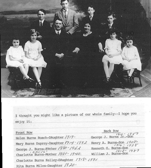 George Burns and Charlotte Sauve Family