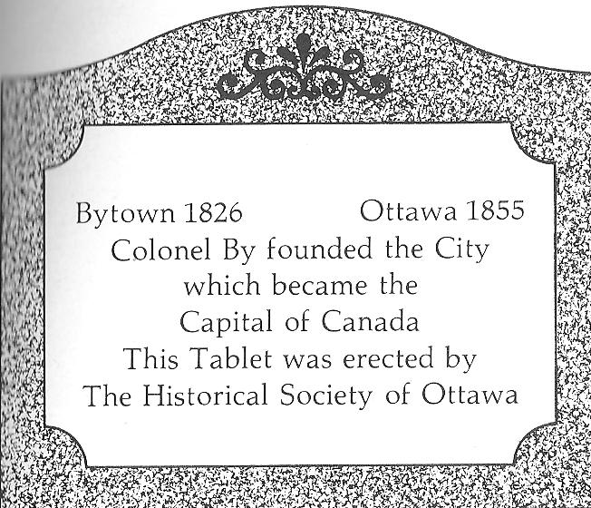 Tablet at Base of Monument for Colonel John By, Ottawa, Ontario, Canada