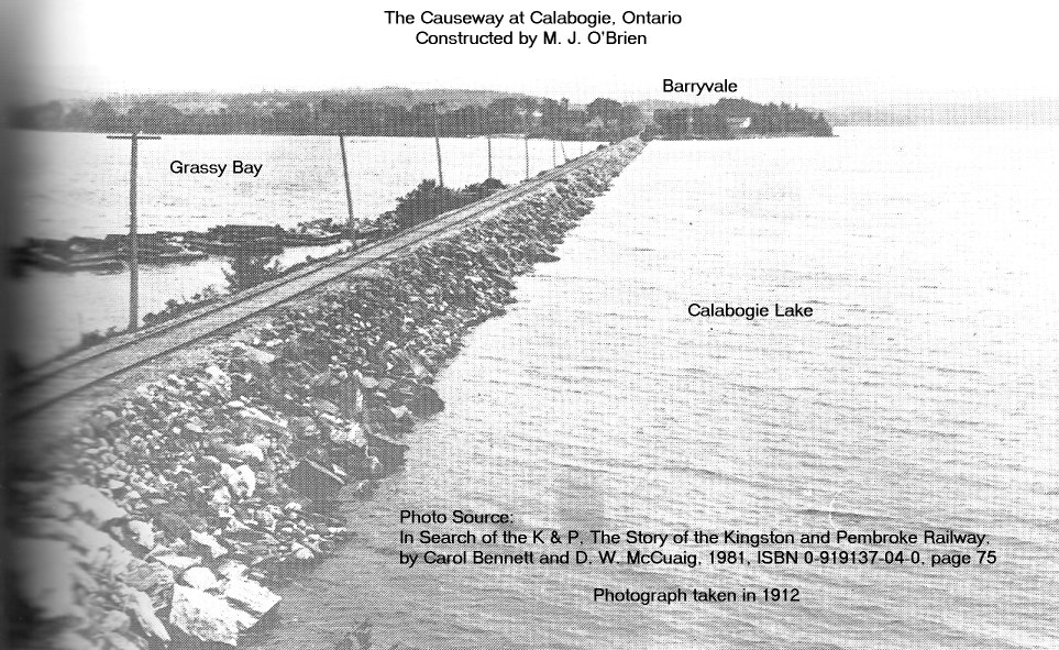 The Causeway at Calabogie, Ontario, Canada, built by M. J. O'Brien