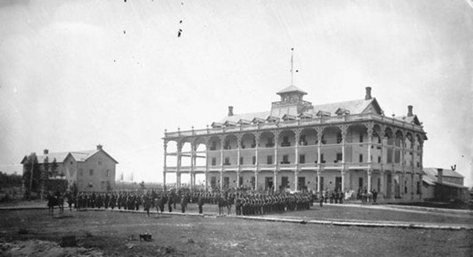 Caledonia Springs Hotel, Ontario, Canada, in 1872