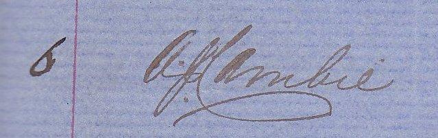 Signature of Alexander Jeffrey Cambie