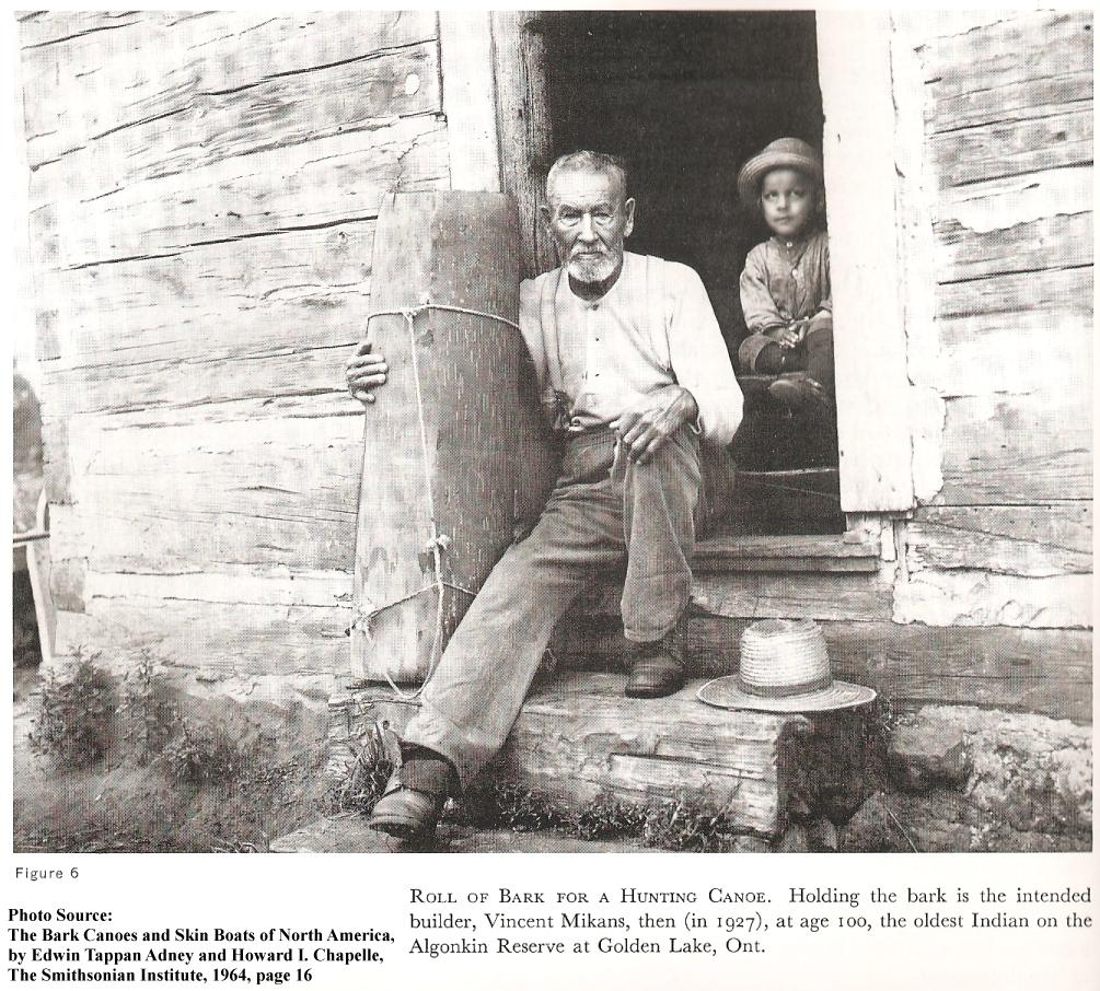 Mr. Vincent Mikans at  Pikwakanagan (Golden Lake Algonquin, in 1927, aged 100!