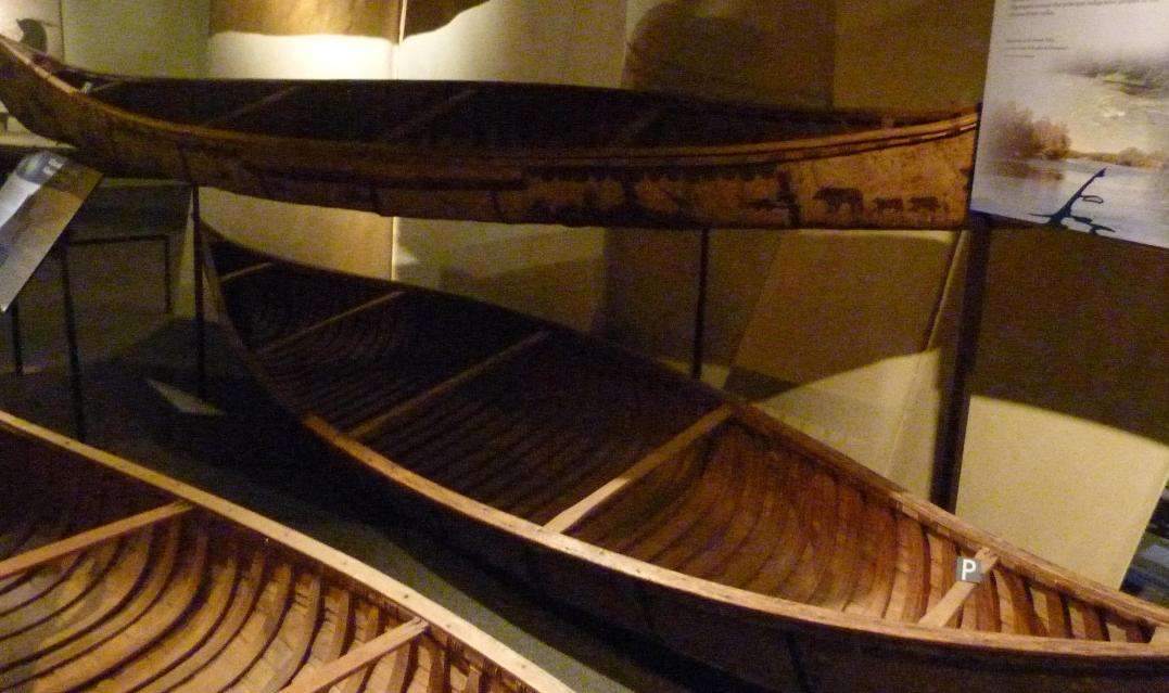 Birch Bark Canoe built by William Commanda, Maniwaki, Quenec