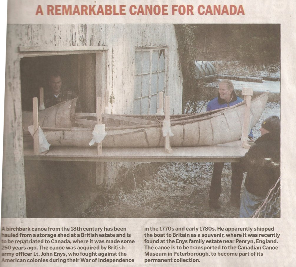 Birch Bark Canoe - 250 years old in 2010