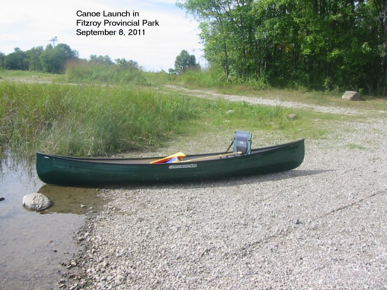 Canoe Launch at Fitzroy Provincial Park, 2011
